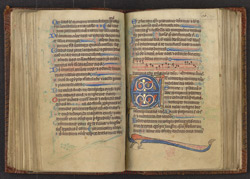 Illuminated Initial, In A Psalter f.70r